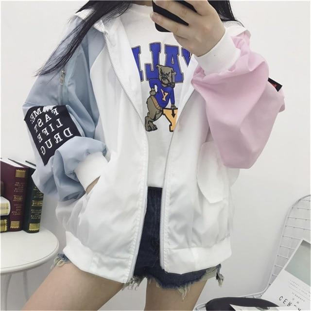 Women's Multi-Color Stylish Long Sleeved Spring Jacket's - SlickWearApparel