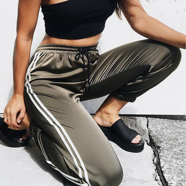 Casual Loose Side Striped Long Pants