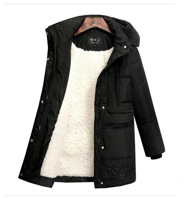 Winter Women's Jackets Plus Size Cotton Coat Padded Medium Long Slim Hooded Parkas Female Warm Snow Casual Outerwear