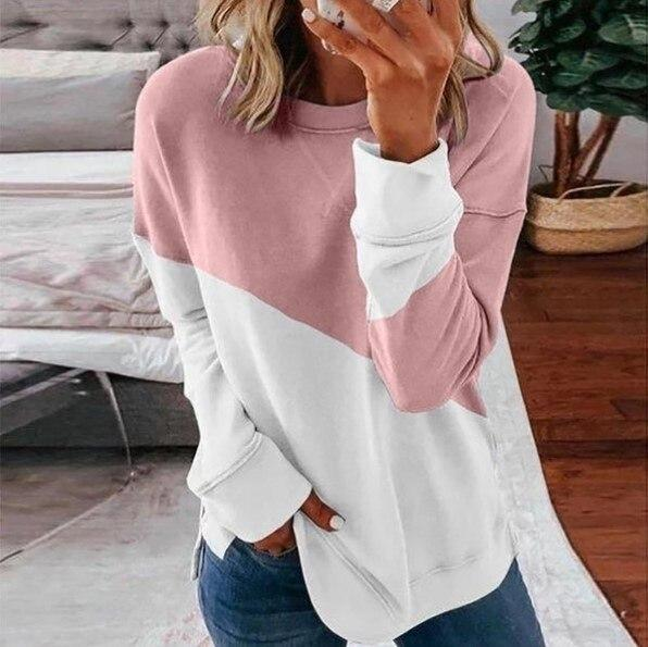 2 Toned Designer Solid Color Long Sleeved Tops