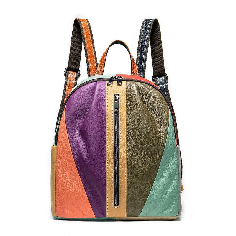 Women's Colorful Leather Shoulder Bag