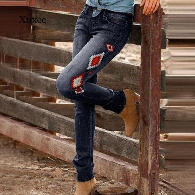 New Printed Slim Button Fly Jeans - SlickWearApparel