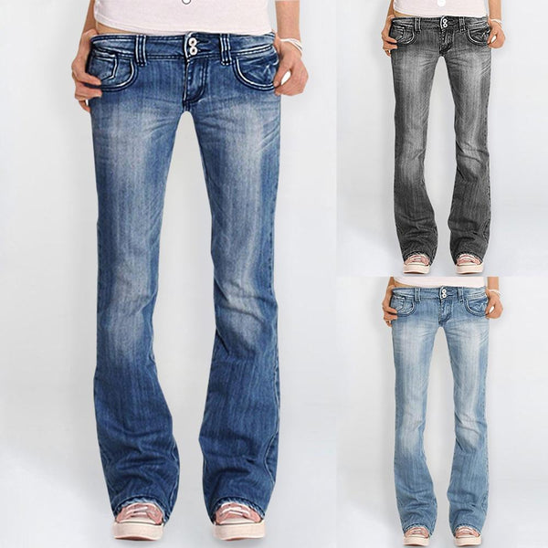 2020 Blue Fashion Denim Slim Jeans Cargo Pants