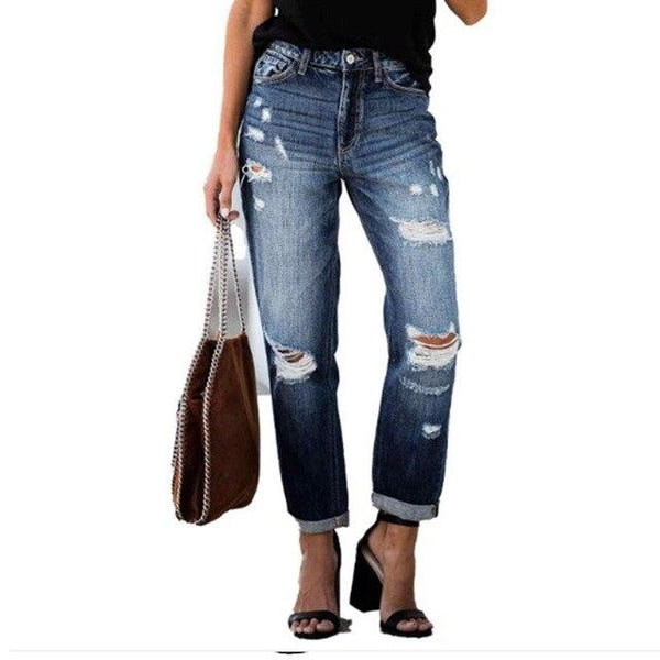 2021 New Fashion Ripped Distressed Loose Denim Jeans - SlickWearApparel