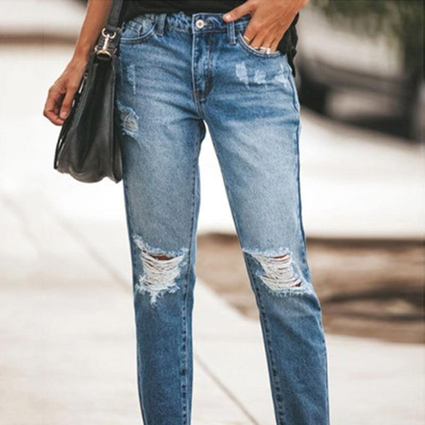 Women's Relaxed Casual Style Denim Jeans - SlickWearApparel