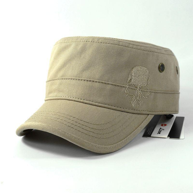 Snap back Flat Cap Army Cadet Hat - SlickWearApparel