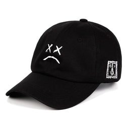 womens-clothing-wear,Baseball Cap Sad face Novelty Hat,SlickWearApparel,