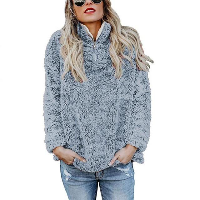 Women's Fleece Pullover Jackets - SlickWearApparel