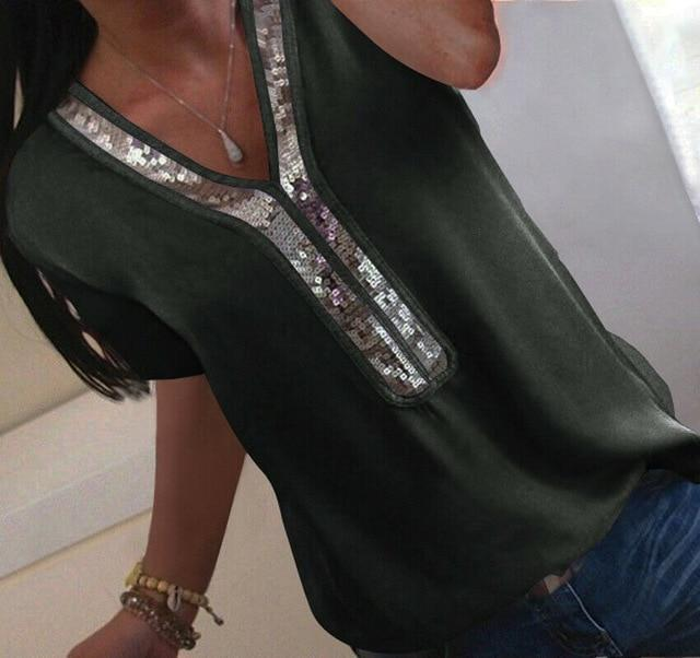 Chiffon Short Sleeve Casual Solid Color Blouses-slickwearapparel