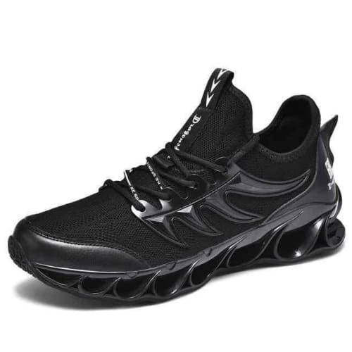Running Stylish Lace-Up Walking Sneakers - 8011Black / 8