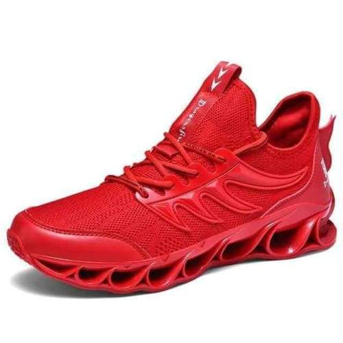 Running Stylish Lace-Up Walking Sneakers - 8011Red / 11