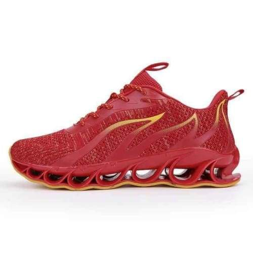 Running Stylish Lace-Up Walking Sneakers - A65Red / 8