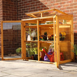 wooden mini greenhouse