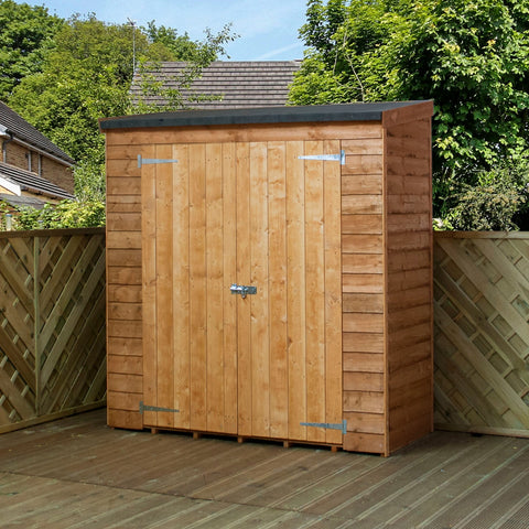 wooden toolshed