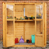 Wooden wall greenhouse