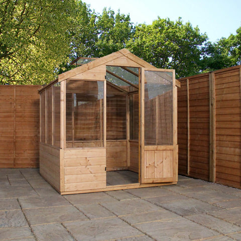 8 x 6 wooden greenhouse