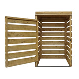 wheelie bin storage wooden