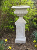 garden urn with plinth