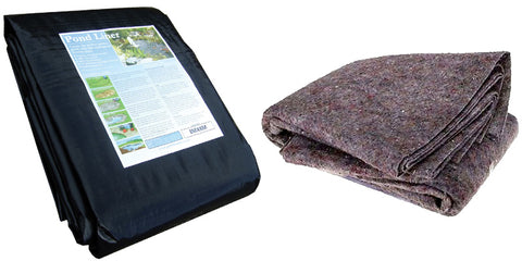Pond Liner with Underlay Fleece - various sizes