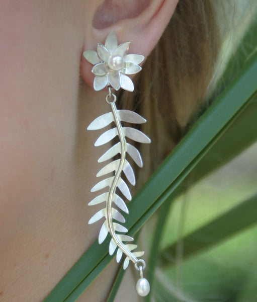 Yew Leaf Earrings