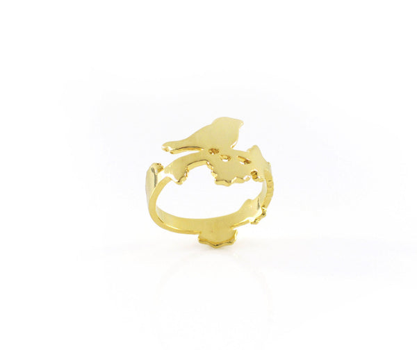 Floral Bird Ring