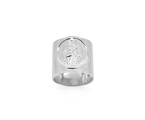 Silver Coin Ring