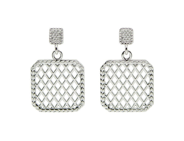 Silver Lattice Earrings