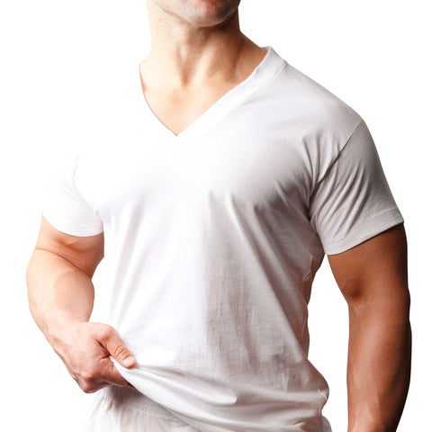 Big Man's Cotton V-Neck T-shirt (2-pack)