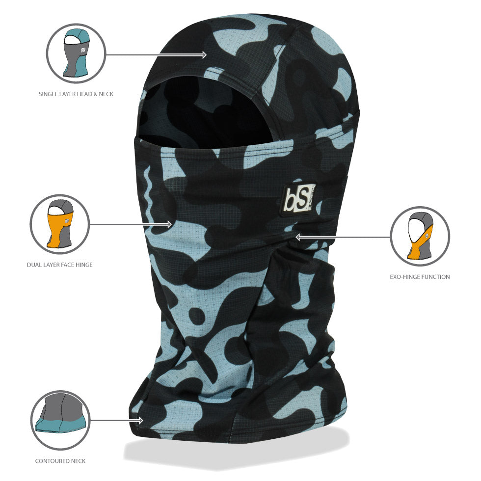 BlackStrap Hood Balaclava features diagram