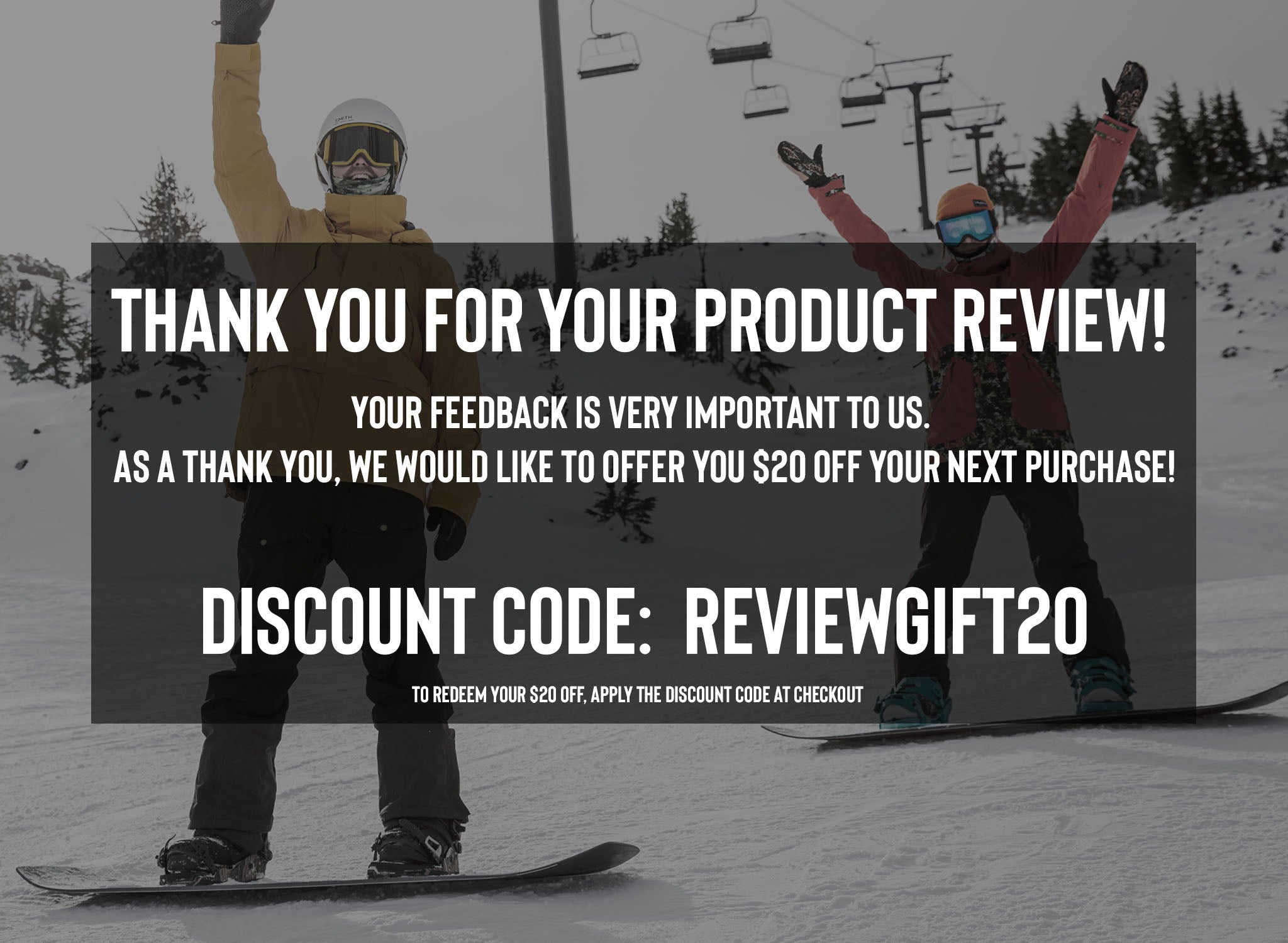 Thank you for your review. Receive $20 off with REVIEWGIFT20