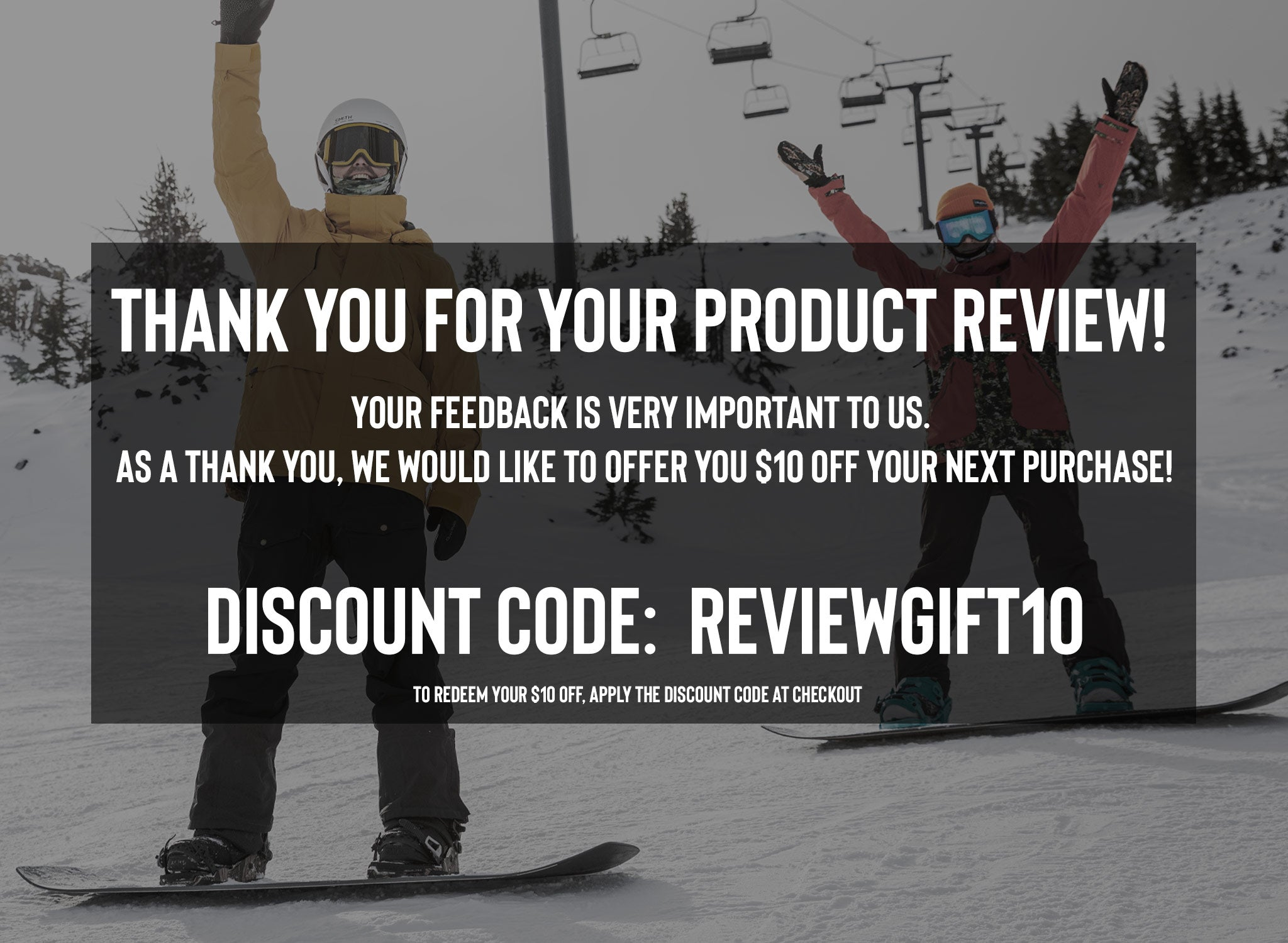Thank you for your review. Receive $10 off with REVIEWGIFT10