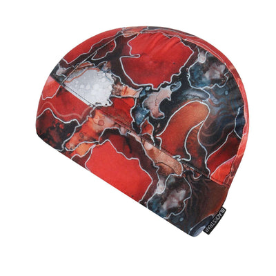 Midweight Helmet Liner | Nicole Bishopp Lava - BlackStrap Industries Inc. ALL RIGHTS RESERVED.