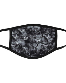 BlackStrap Civil Mask Tie Dye Black USA Made Public Safety Face Mask - Top View