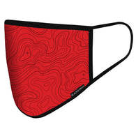BlackStrap Civil Mask Topo Time Crimson Red USA Made Public Safety Face Mask