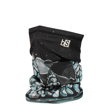BlackStrap The Dual Layer Tube Nicole Bishopp Snowy Trees Neck Gaiter Facemask Made In The USA