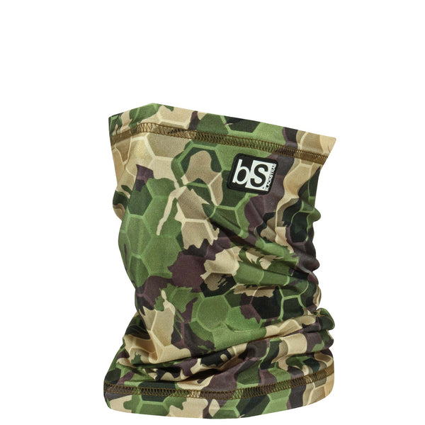 BlackStrap The Dual Layer Tube Hex Camo Forest USA Made Neck Gaiter Facemask
