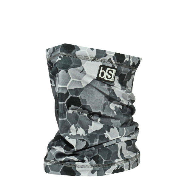 BlackStrap The Dual Layer Tube Hex Camo Gray USA Made Neck Gaiter Facemask