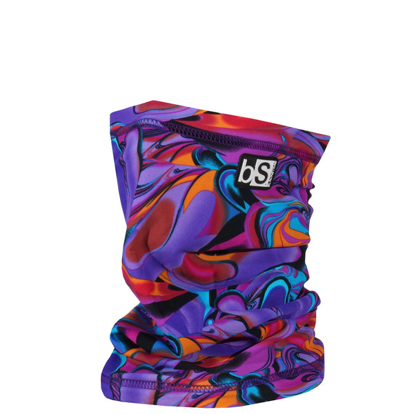 BlackStrap The Dual Layer Tube Lava Lamp Purple and Orange Neck Gaiter Facemask Made In The USA