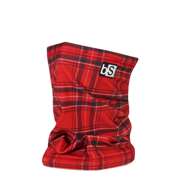 BlackStrap The Dual Layer Tube Plaid Red Lumberjack Neck Gaiter Facemask Made In The USA
