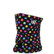BlackStrap The Dual Layer Tube Polka Dots Rainbow Neck Gaiter Facemask Made In The USA