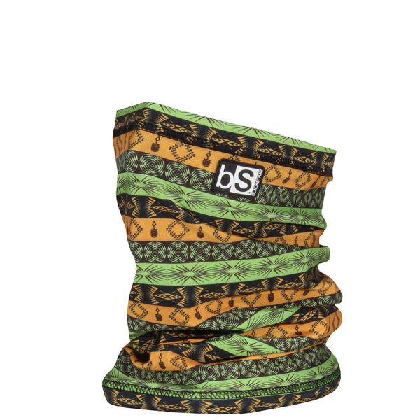 BlackStrap The Dual Layer Tube Tribe Aztec Green and Gold Neck Gaiter Facemask Made In The USA