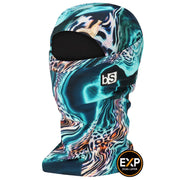 BlackStrap The Expedition Hood Balaclava Abstract Cheetah USA Made Facemask