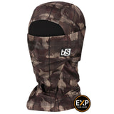 BlackStrap The Expedition Hood Balaclava Camo Criss Cross Patty Brown USA Made Facemask