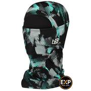 BlackStrap The Expedition Hood Balaclava Camo Geode Teal USA Made Facemask