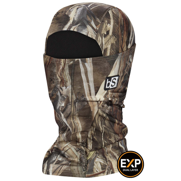 BlackStrap The Expedition Hood Balaclava Camo Marsh Grass USA Made Facemask