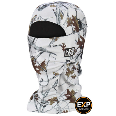 BlackStrap The Expedition Hood Balaclava Camo Timber Snow USA Made Facemask