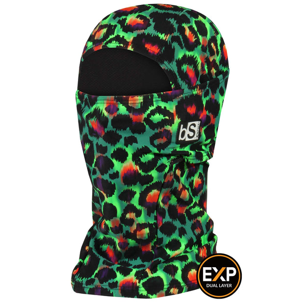 BlackStrap The Expedition Hood Balaclava Cheetah Green USA Made Facemask