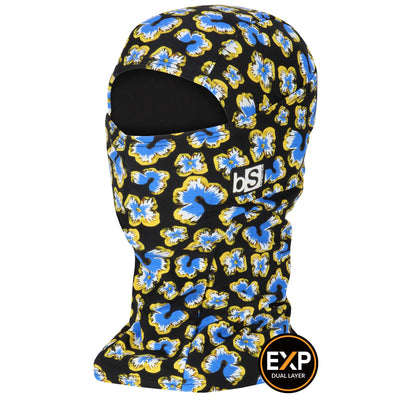 BlackStrap The Expedition Hood Balaclava Floral Blue Stars USA Made Facemask