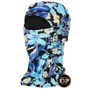BlackStrap The Expedition Hood Balaclava Floral Blues USA Made Facemask