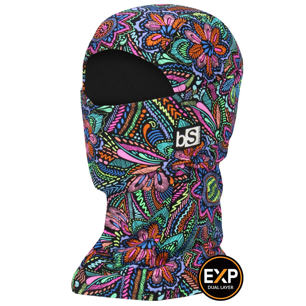 BlackStrap The Expedition Hood Balaclava Floral Disco USA Made Facemask